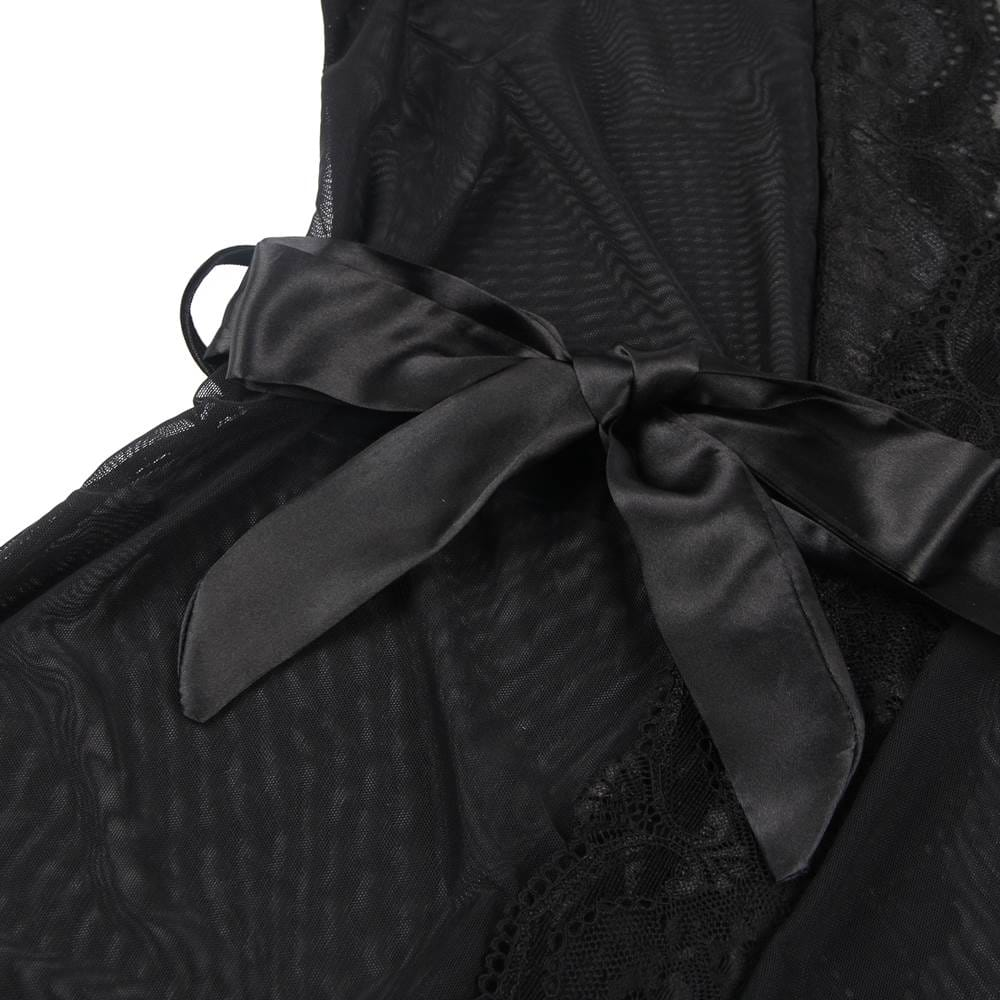 Plus Size Lace Splicing High-end Delicate Perspective