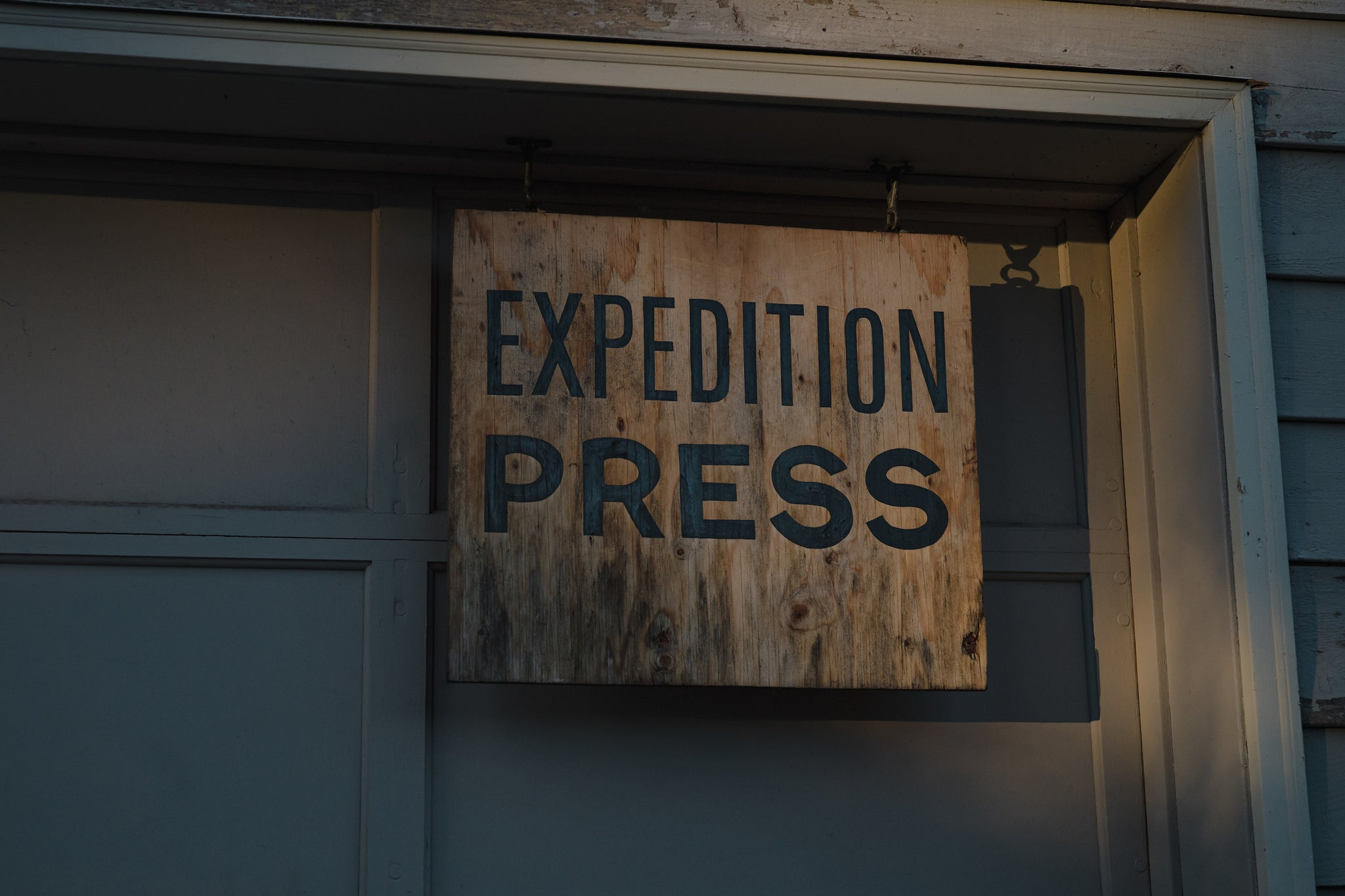 Expedition Press shop sign