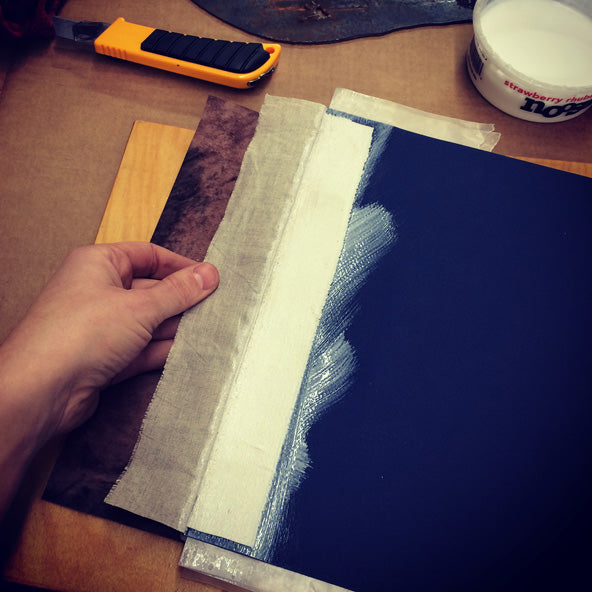 gluing the hinge of a book