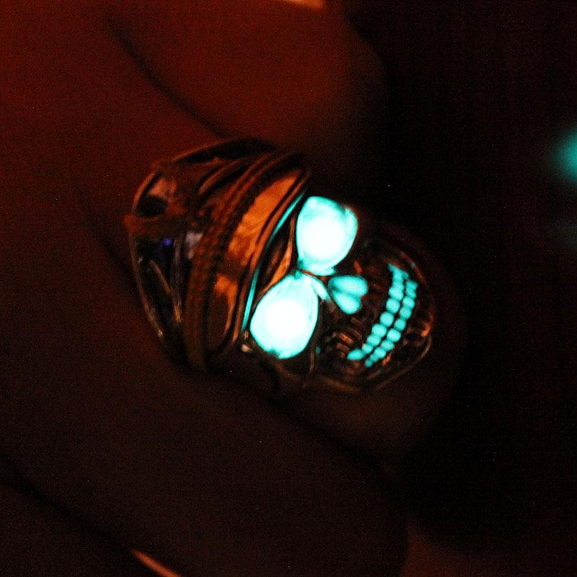 Glowing Skull Ring