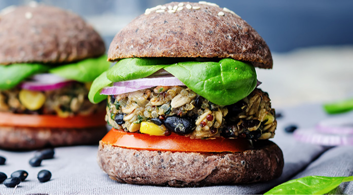 Black Bean Hemp Burger