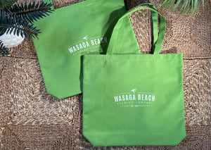 Large Shopping Bag made with 85% post consumer Recycled plastic- Lime