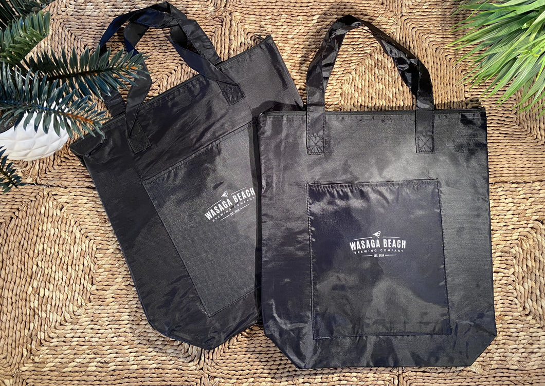 Cooler Lined Nylon Shopping Bag - Black