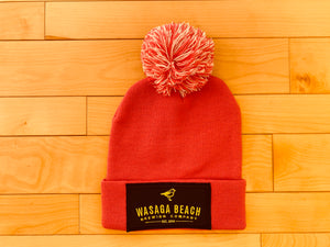 Winter Toque - Pink/White