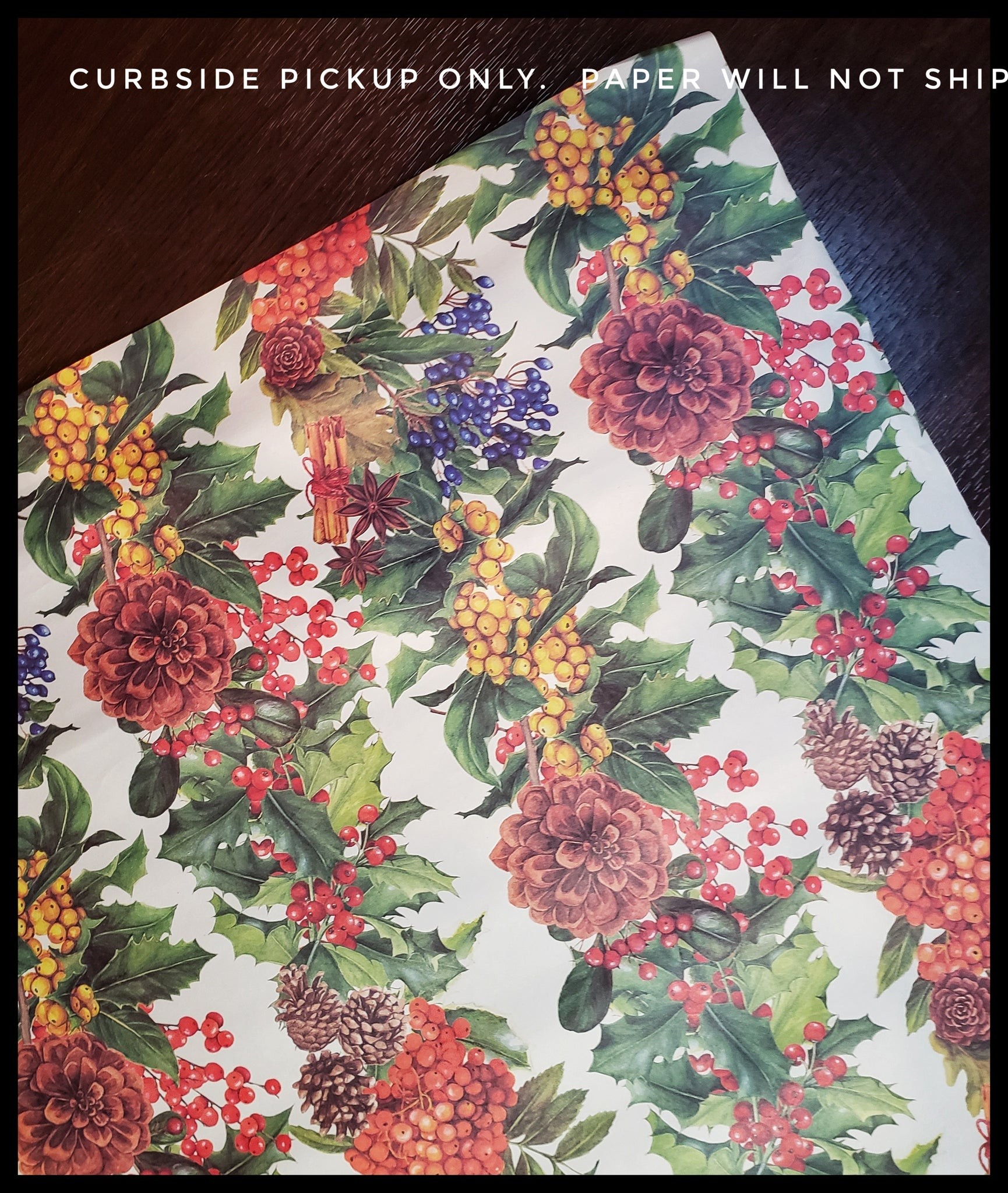 Pinecone & Berries 2 Pack Holiday Sheet Paper