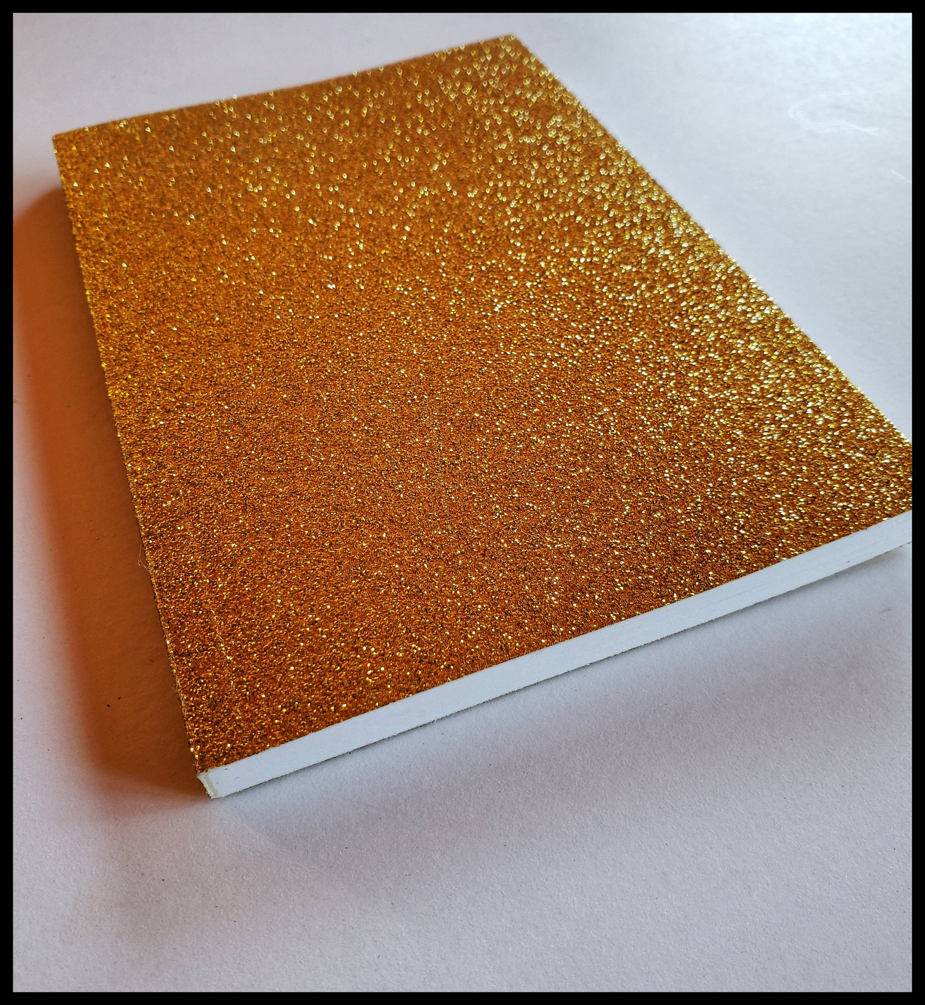 "Gold glitter journal. 4"" x 6"" lined with 64 pages. ADA The Gilded Page Santa Fe"
