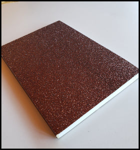 Brown glitter lined journal 4 inch x 6 inch. 64 pages ADA The Gilded Page Santa Fe