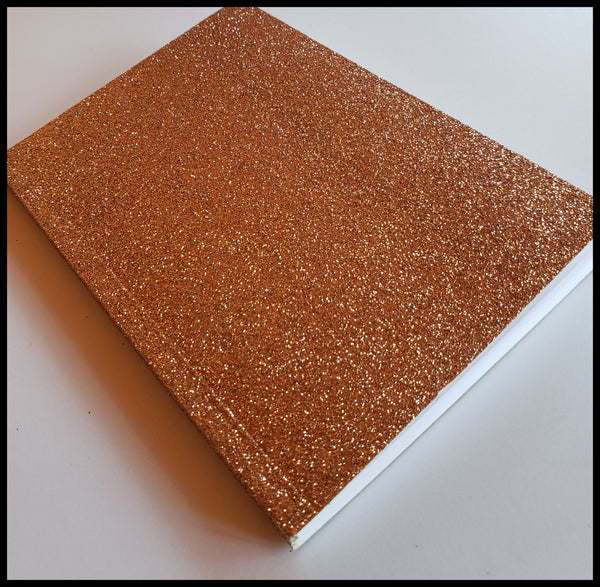 Copper glitter lined journal 4 inch x 6 inch. 64 pages ADA The Gilded Page Santa Fe