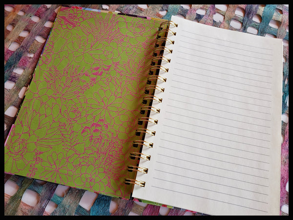 Succulent Spiral Notebook