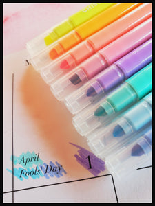 Double-ended Pastel Marker Liners