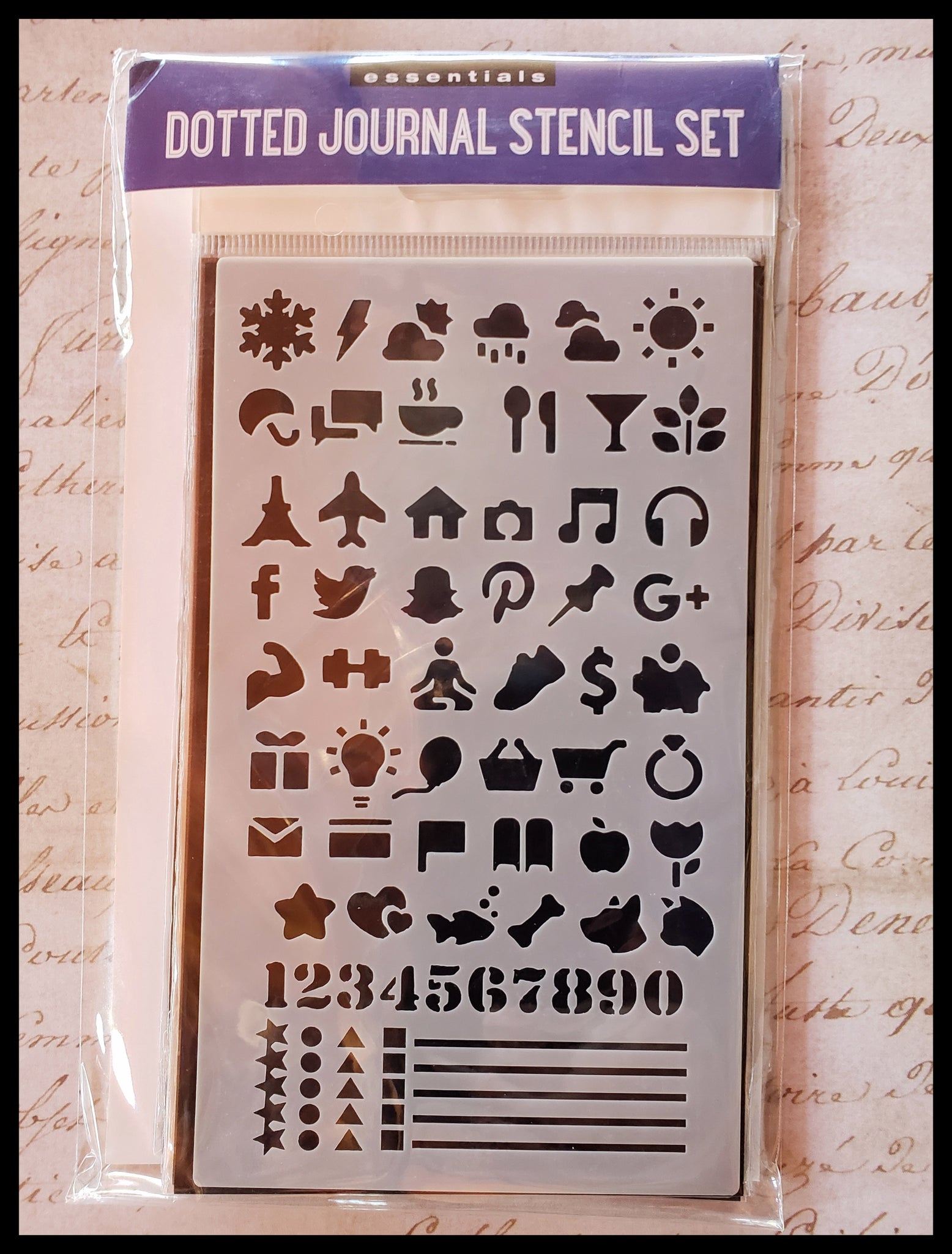 "Journal Stencil Set 12 stencil sheets with over 300 designs   Stencil sheet 4"" x 7""  ADA The Gilded Page Santa Fe New Mexico"