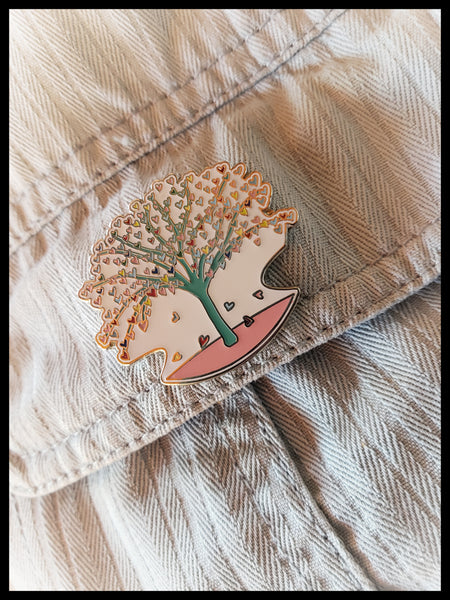 Tree of Hearts Hard Enamel Pin