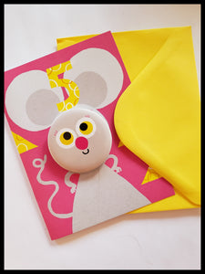 Mouse 5 Birthday Button