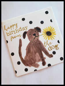 Happy Birthday From The Dog Birthday Card