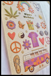 Hippie Birthday Card