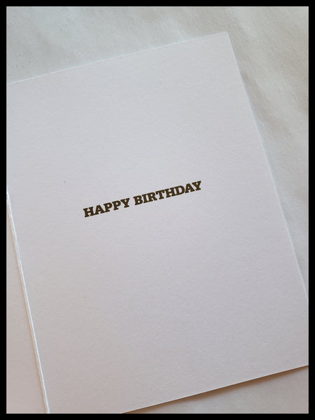 Birthday Cake with Gold Accent Candles Birthday Card