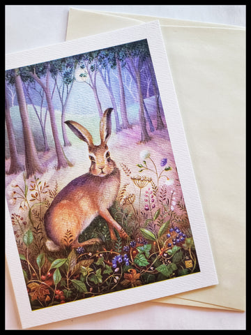 Rabbit in Forest Card