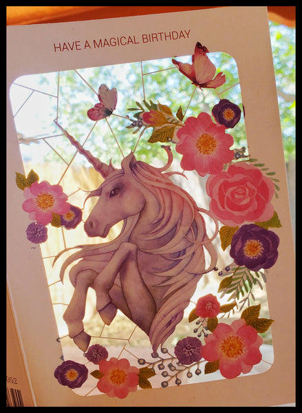 Laser Cut Unicorn Birthday Card