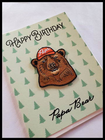 Happy Birthday Papa Bear Patch Card