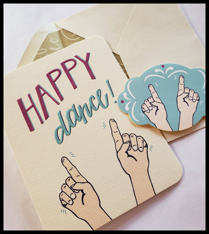 Happy Dance Card with Sticker