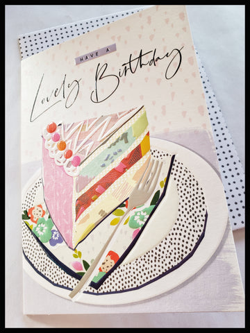 Birthday Cake Embossed Birthday Card