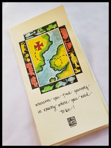 Hand Painted Old Fashion Map Card