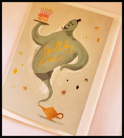 Genie Birthday Card