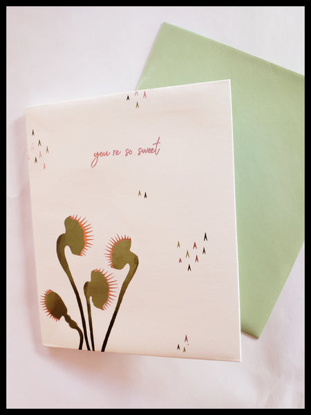 Venus Fly Trap Pop Up Card