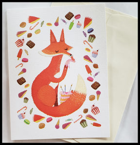 Fox & Treats Birthday Card