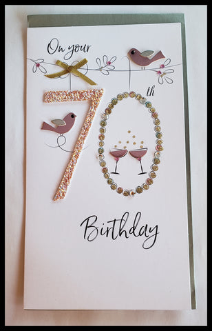 70th Birthday Birthday Greeting Card