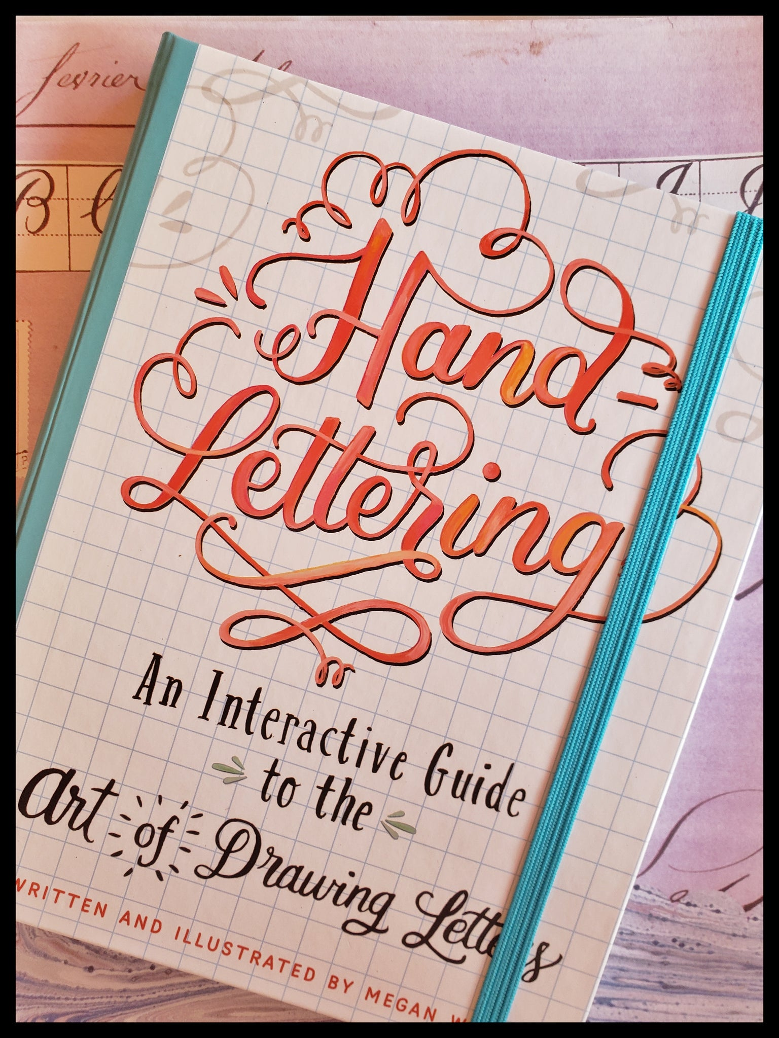 "Hand lettering activity book 160 acid-free pages hardcover 8"" x 9.5"" ADA The gilded page Santa fe"