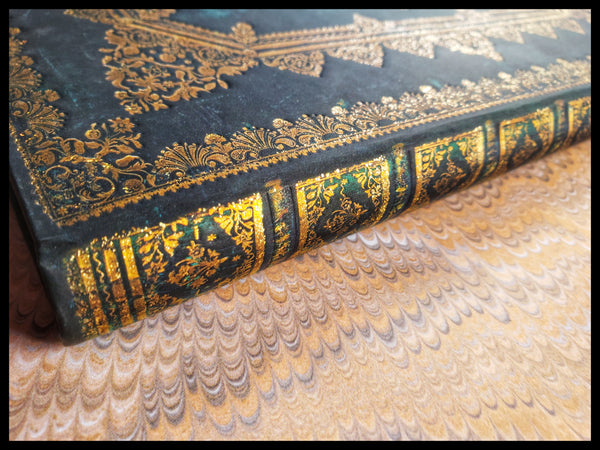 Lined Hardcover Antique Gold & Blue Journal