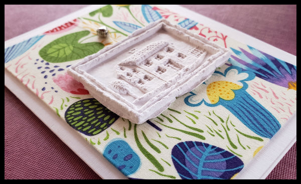 House Paper Cast Greeting Card