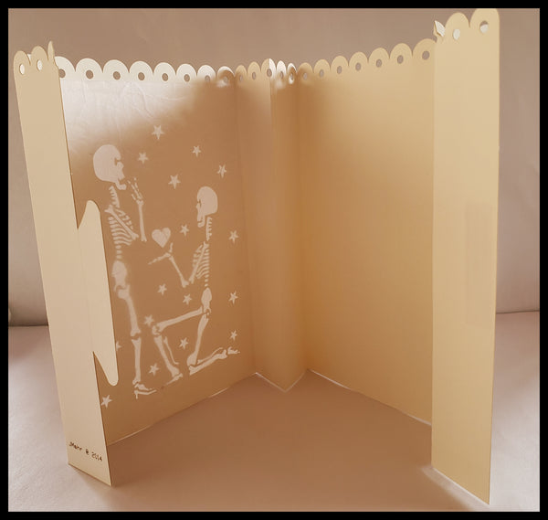 Luminaria, Farolito Handcrafted Engagement Card
