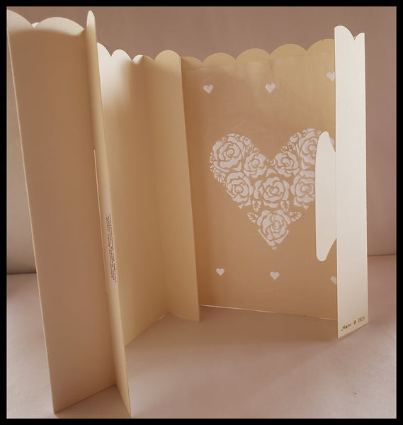 Luminaria, Farolito Handcrafted Heart Card