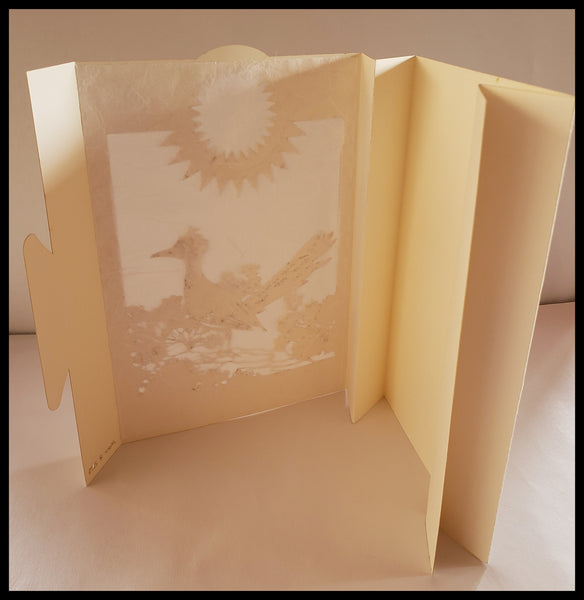 Luminaria, Farolita Handcrafted Roadrunner Card