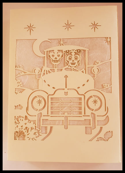 Luminaria, Farolito Handcrafted Wedding Card