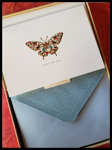 Butterfly Boxed Note Cards