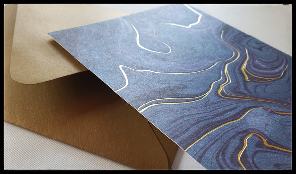 Marbled Boxed Note Cards