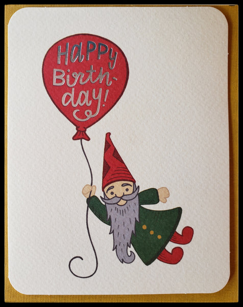 Gnome Birthday Greeting Card