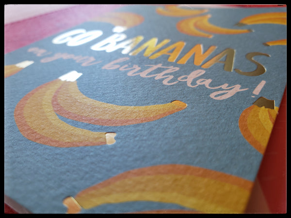 Go Bananas On Your Birthday Greeting Card