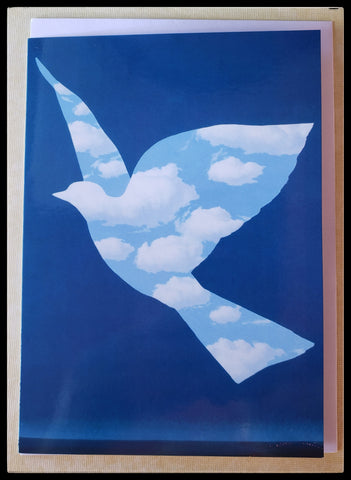 "L'Oiseau de ciel - De hemelovgel- Sky Bird, 1966  BLANK INSIDE  5"" x 7"" with envelope ADA The Gilded Page Santa Fe New Mexico"