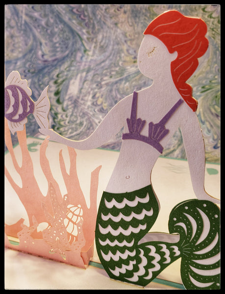 Mermaid POP UP Greeting Card