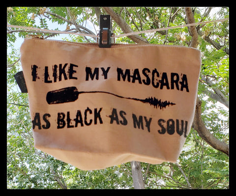 I Like My Mascara As Black As My Soul Canvas Clutch