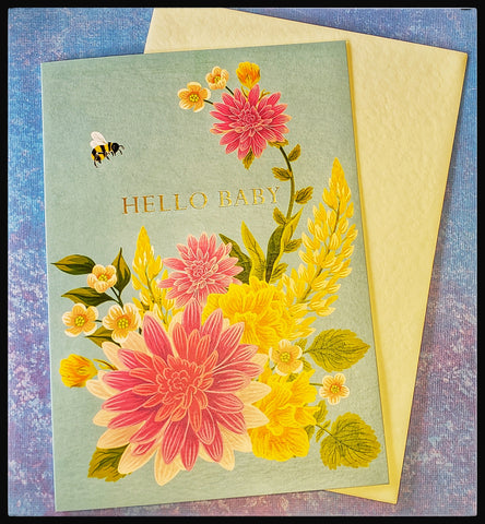 Hello New Baby Greeting Card