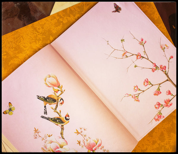 Bird & Flower Lined Journal