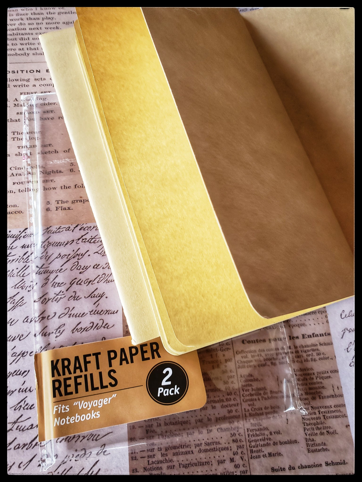 "Kraft Paper  2 pack kraft paper refills   Fits ""voyager"" notebooks   4"" x 7.5""  ADA The Gilded Page Santa Fe New Mexico"