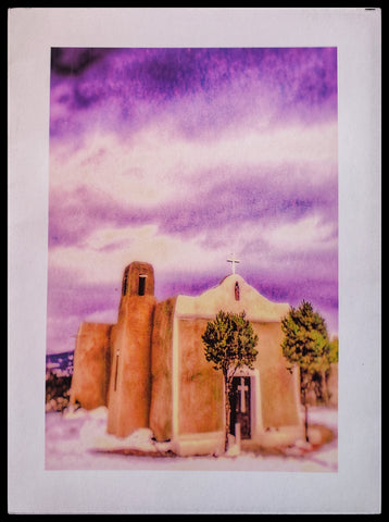 "ADA Peace on Earth  BLANK INISDE   Matte   5.5"" x 7.5"" with envelope      Holiday Cards, The Gilded Page Santa Fe, New Mexico Online"