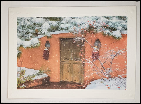 "ADA Winters Gate   BLANK INISDE   Matte   5.5"" x 7.5"" with envelope      Holiday Cards, The Gilded Page Santa Fe, New Mexico Online"