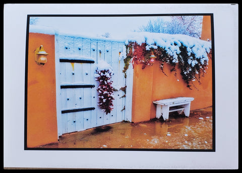"Holiday Welcome   BLANK INISDE   Matte   5.5"" x 7.5"" with envelope      Holiday Cards, The Gilded Page Santa Fe, New Mexico Online"